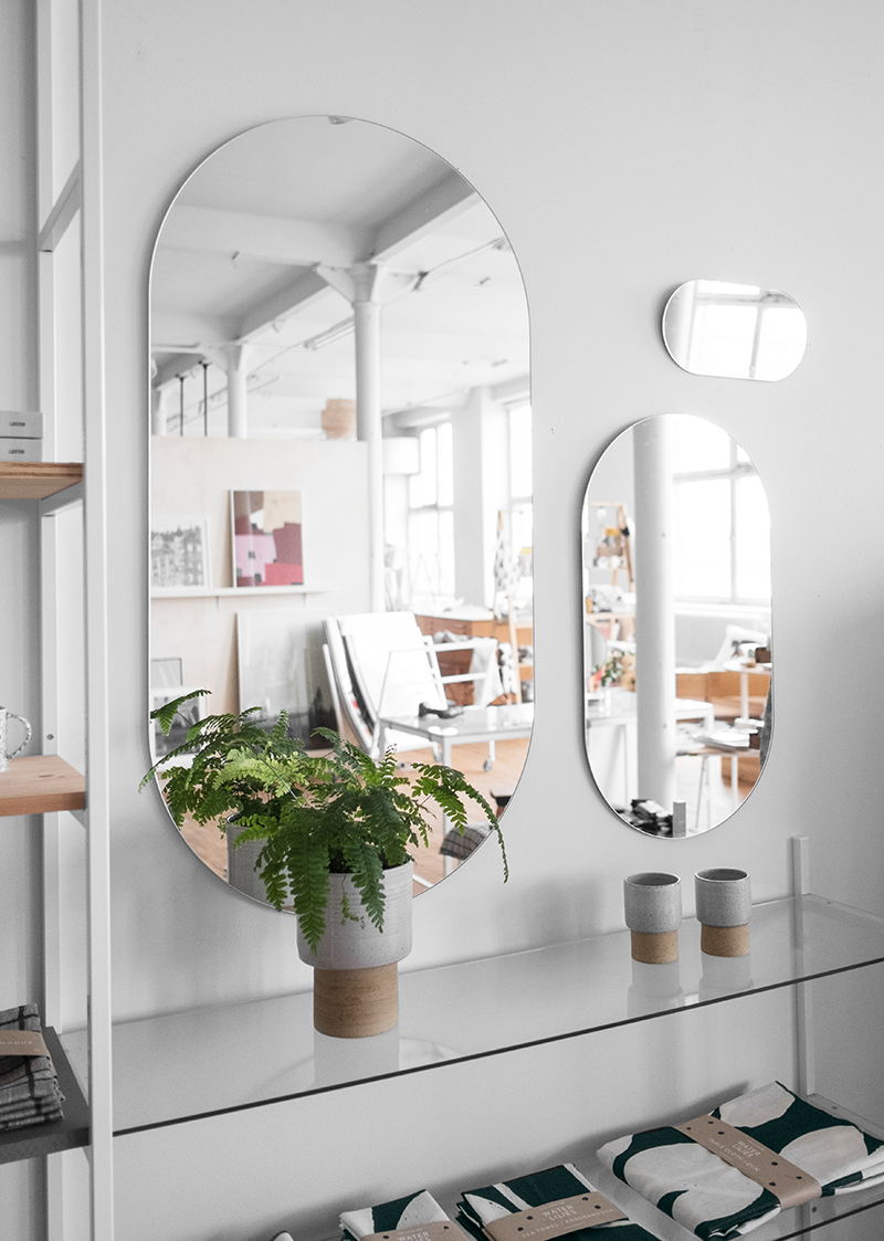 The Latest Addition From Betonggruvan Shaped As A Happy Pill The Mirrors Combine Playfulness With Scandinavian Design In Decor Home Decor Scandinavian Home