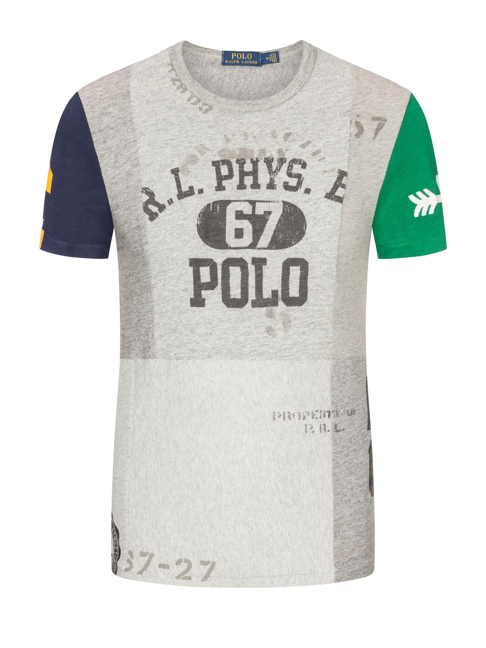 purchase cheap 994db 0f88d Polo Ralph Lauren Modisches T-Shirt in melierter Optik, grau ...