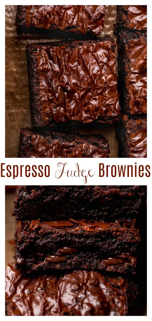 Photo of Espresso Chocolate Chunk Brownies – Baker by Nature