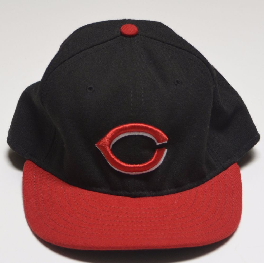 cincinnati reds mlb official on field new era 59fifty cool base caphat 7 3 8 usa