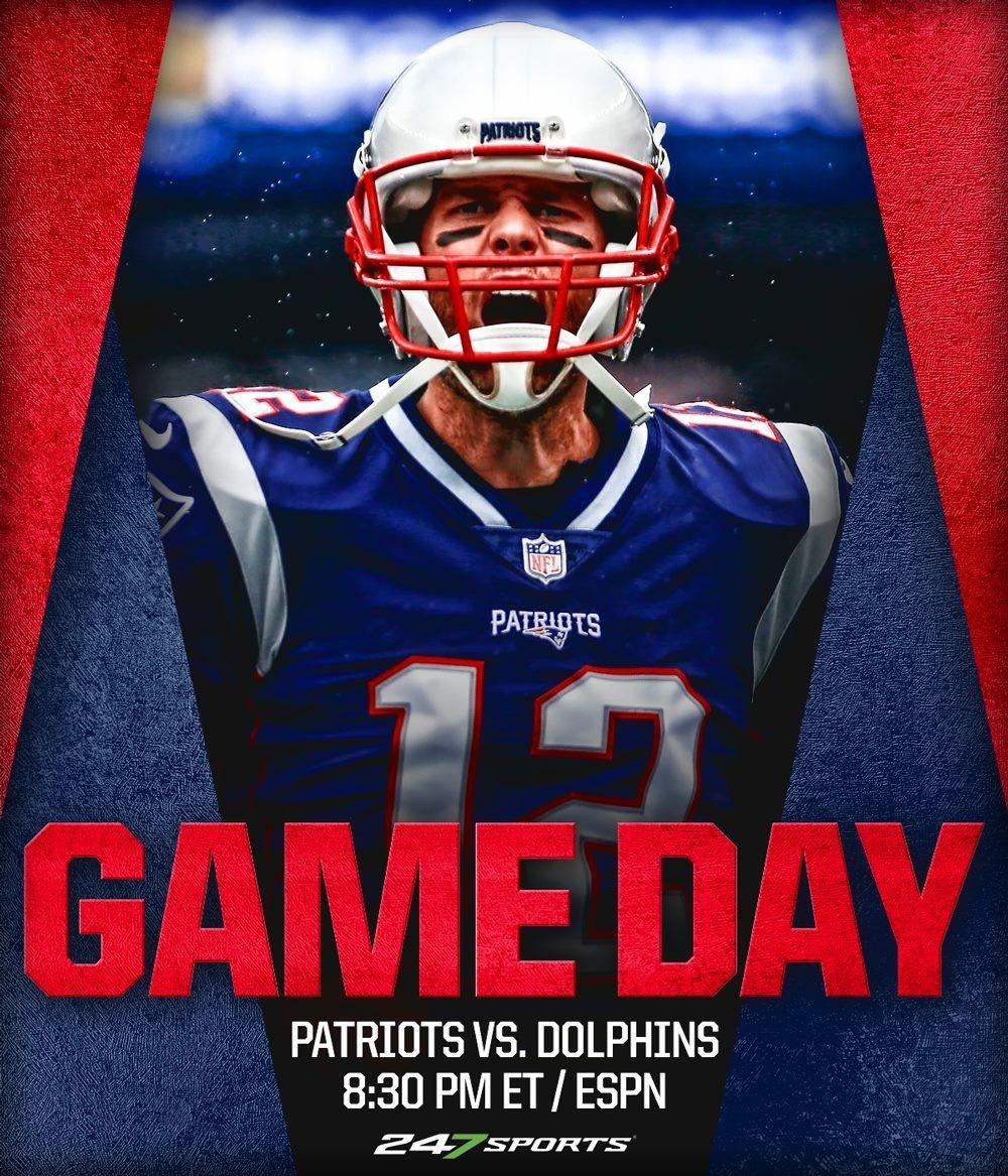 Gameday Week14 Nevsmia Mnf Makinghistory Letsgo New England Patriots Patriots Patriots Vs Dolphins