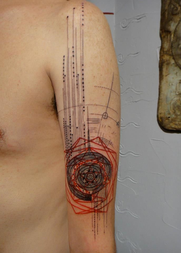 8e2cf76f1 gorgeous modern graphic tattoos - photos posted by Mike Silver. I would  never do this but this is amazing work!