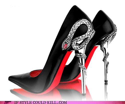 3019e6d3d44 Black high heals with Red bottoms and Snake heals... One of the Sexiest  Shoes Ever!