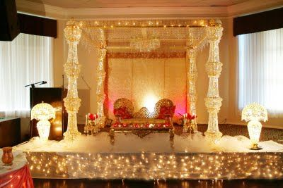 Moore Wedding Centre In Surrey BC Created This Amazing Setup With Crystal Chandeliers For More