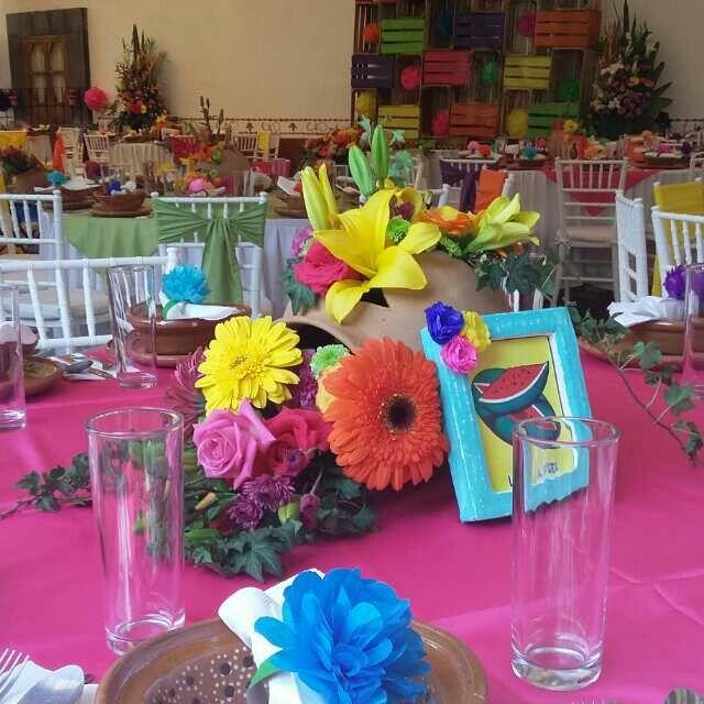 Centro de mesa boda mexicana a la pinterest