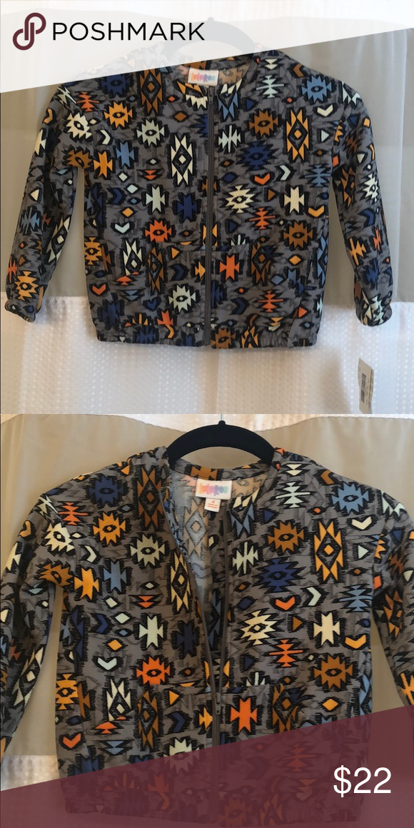 0e24de6cdfa NWT Lularoe Monroe kids (unisex) jacket Super cute jacket for your little  one! NWT Lularoe Monroe jacket Super fun Aztec print!