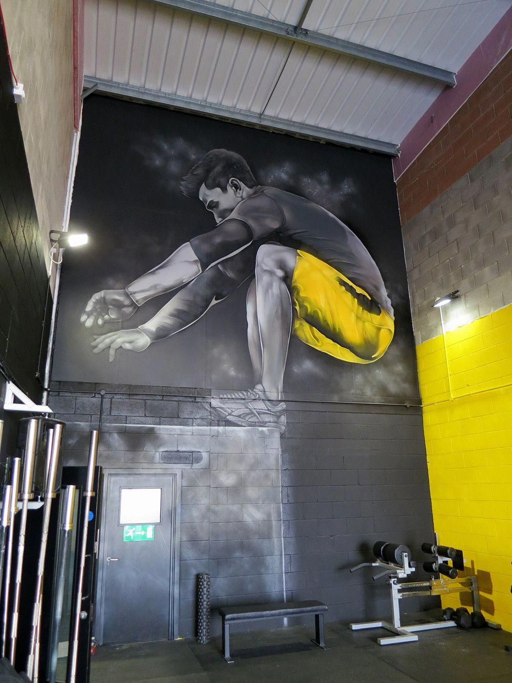 E Fitness Gym Id 6211292991 Crossfit Gym Interior Gym Mural Gym Art