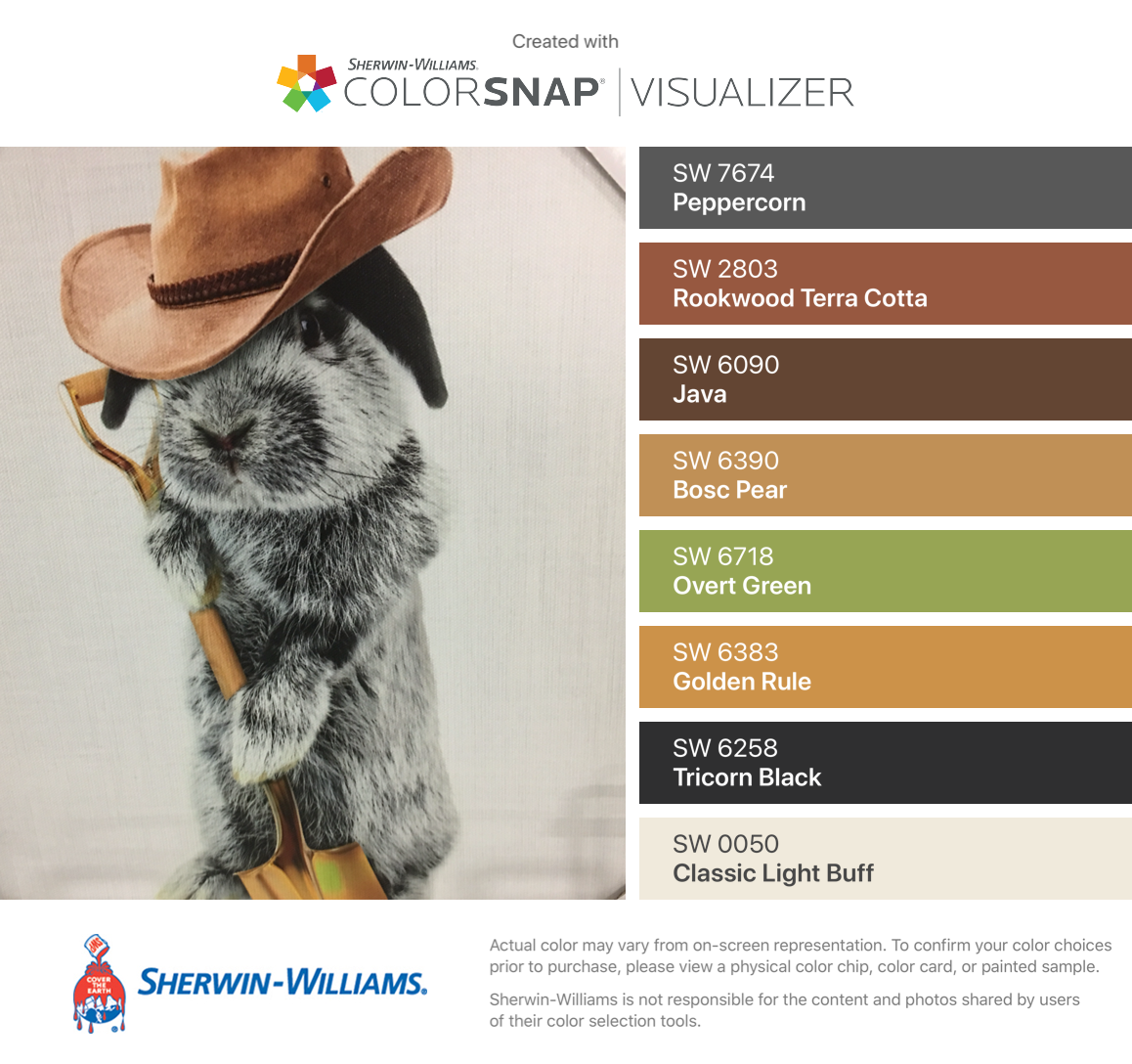 I Found These Colors With Colorsnap Visualizer For Iphone By Sherwin Williams Peppercorn Sw 7674 Rookwood Terra Cotta Color Sherwin Williams Golden Rule
