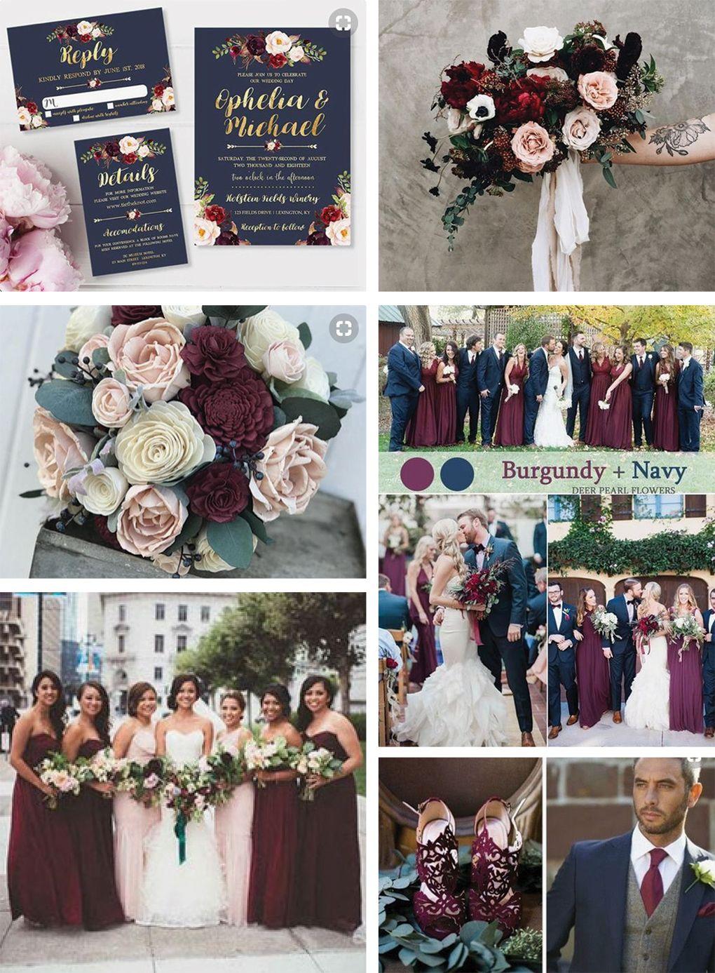 Trending Wedding Colors For 2018 Burgundy And Dusty Purple Hitch Studio Burgandy Wedding Wedding Theme Colors Wedding Colors