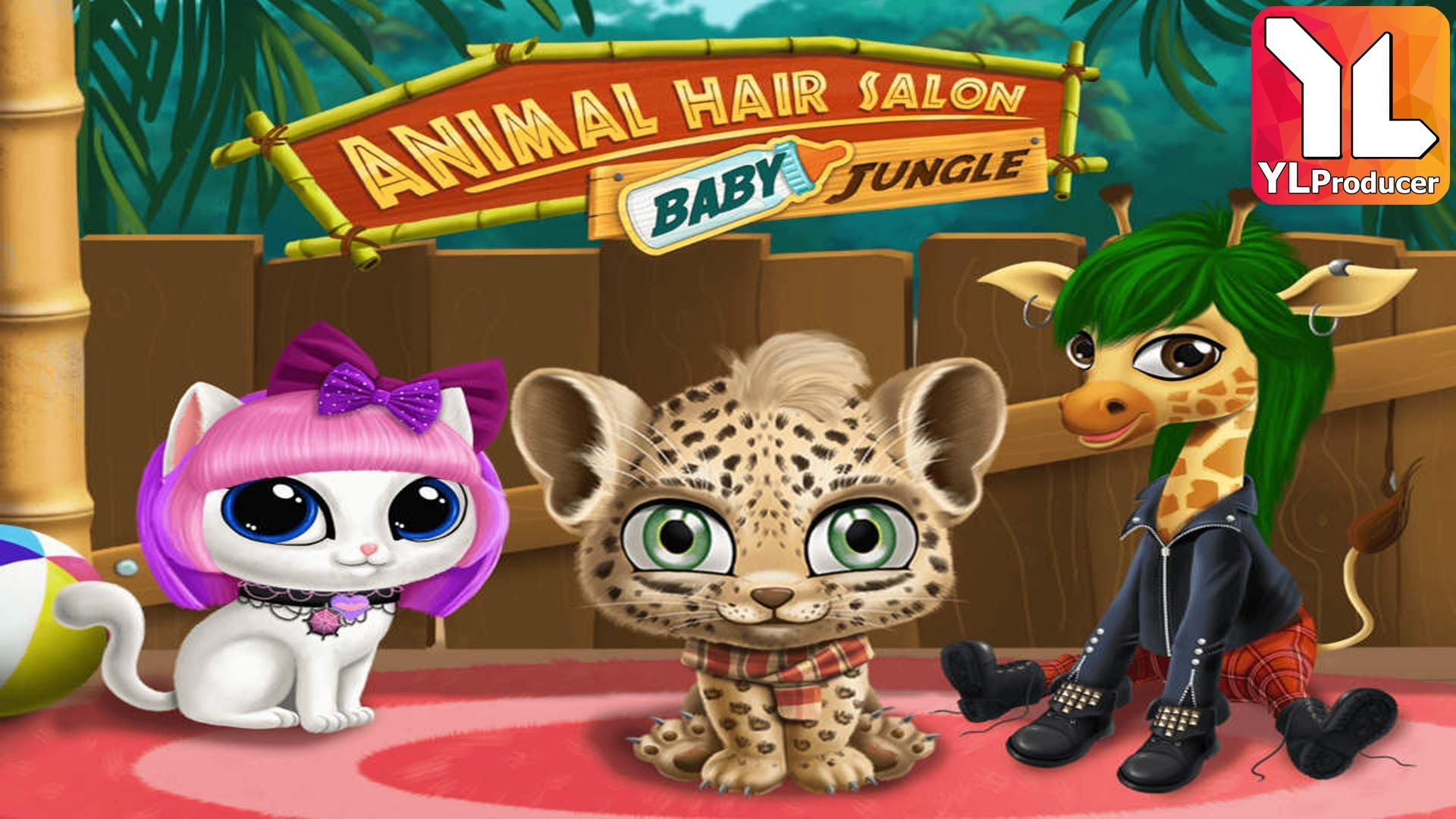 Baby Jungle Animal Hair Salon » Wild Pets Haircut & Style Makeover. Cut, color, shampoo, style and dress up super cute tropical animals sloth, leopard, toucan, elephant and giraffe! Our top game for kids and toddlers Animal Hair Salon now takes the little ones on a crazy jungle hairstyle adventure with new adorable animals and even more makeover fun inside!  #game #gameplay