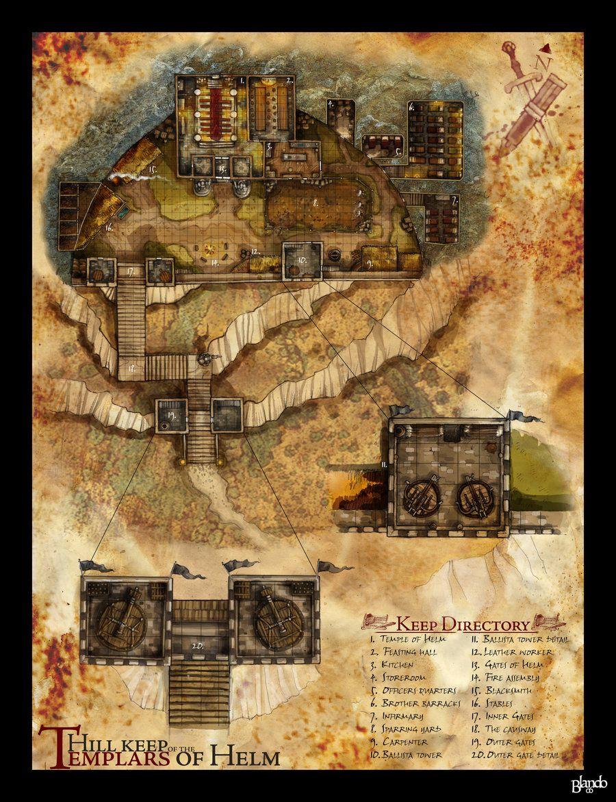 Dnd Fort Map : Templar, Fantasy, Sunken