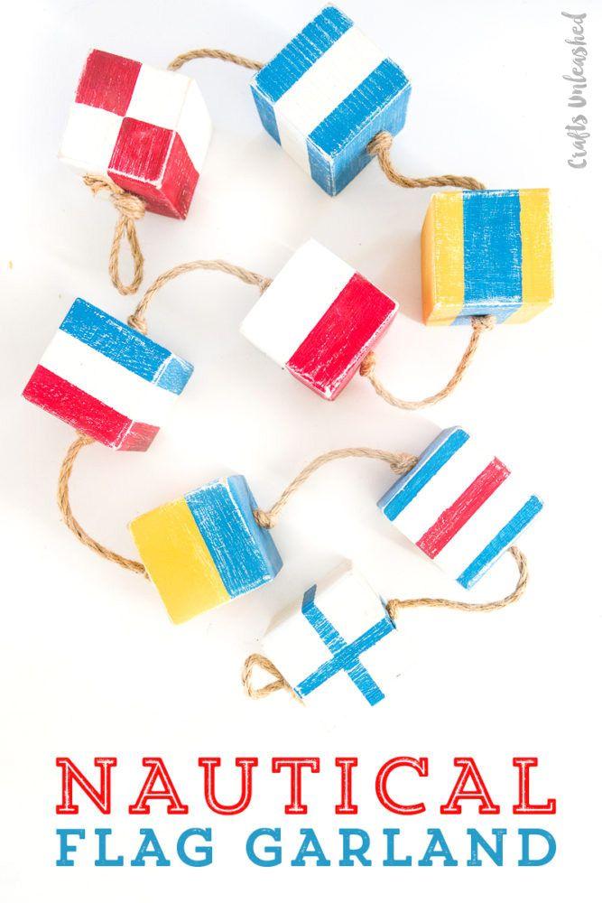 DIY Flag Garland: Nautical Decor - Consumer Crafts -   24 nautical decor printable ideas