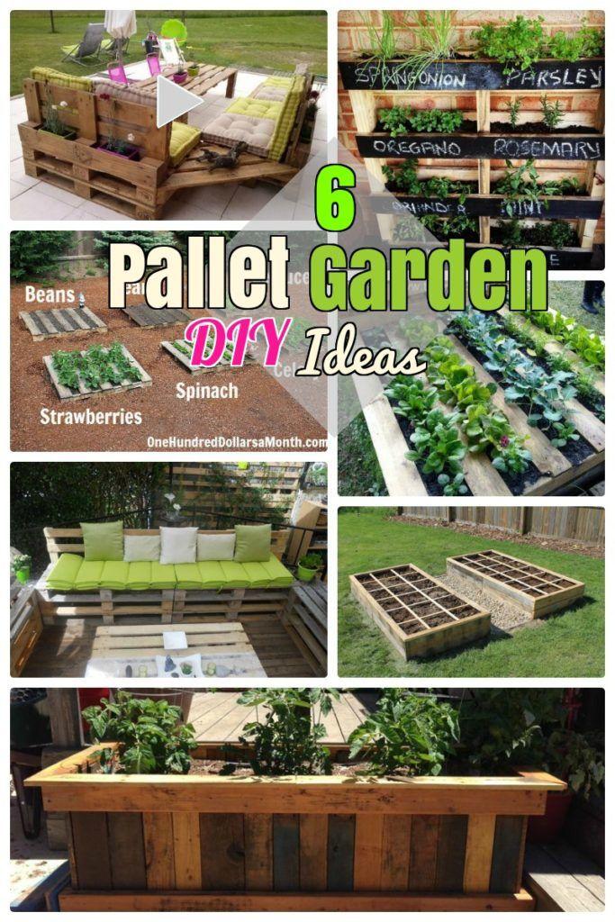 Pallet Garden ideas | diy home decor | Pinterest | Pallets garden ...