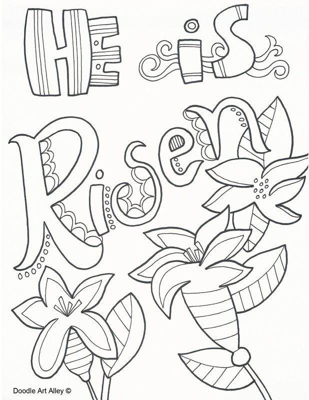 Easter Coloring Pages and printables at Religious Doodles. Free and ...
