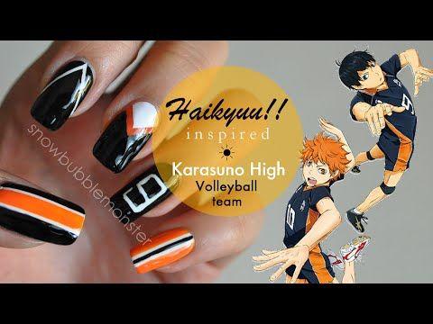 Haikyuu Nail 3 Anime Nails Pretty Acrylic Nails Haikyuu
