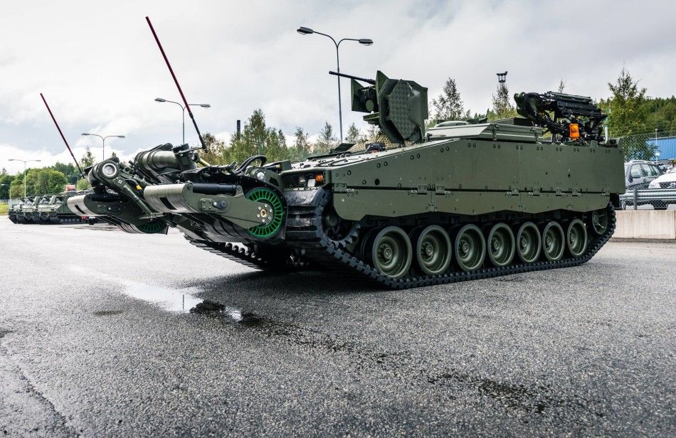 Norwegian APC(Armored Personnel Carrier) with an antimine