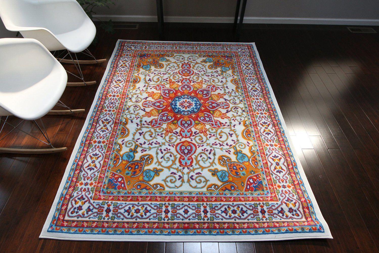 0532 white oriental area rugs