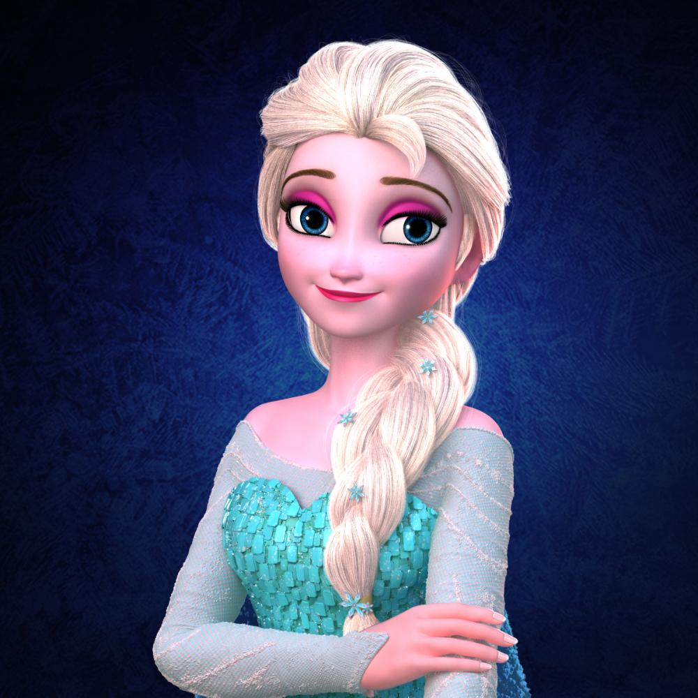 elsa princess frozen 3d obj Frozen characters, Frozen