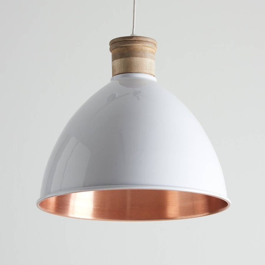 White And Copper Pendant Lights | Copper pendant lights
