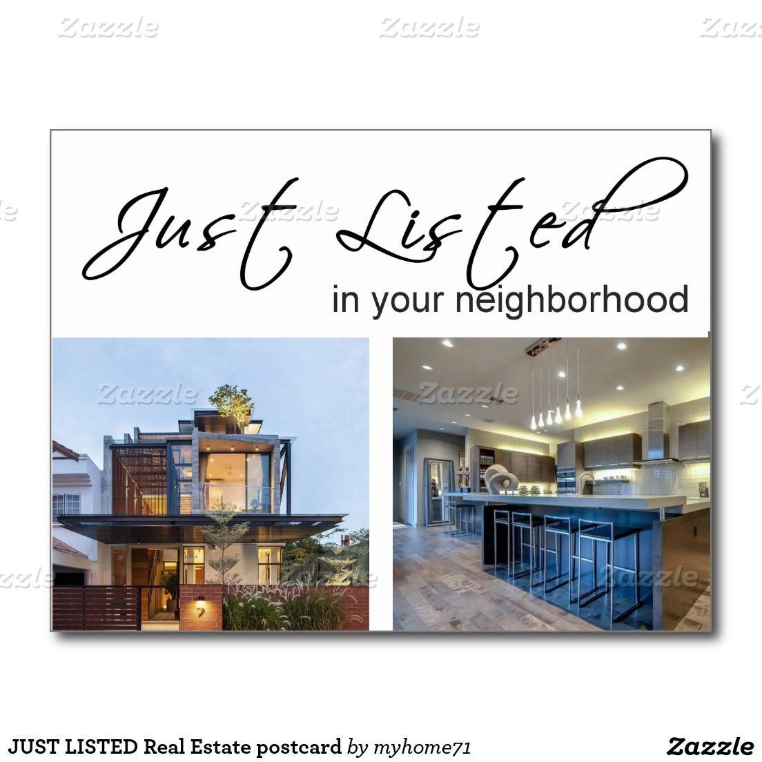 just listed real estate postcard postcards real estate just listed real estate postcard