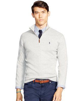 Polo Ralph Lauren Men s Half-Zip Pima Sweater - Sweaters - Men - Macy s fd2c34ba6a0f