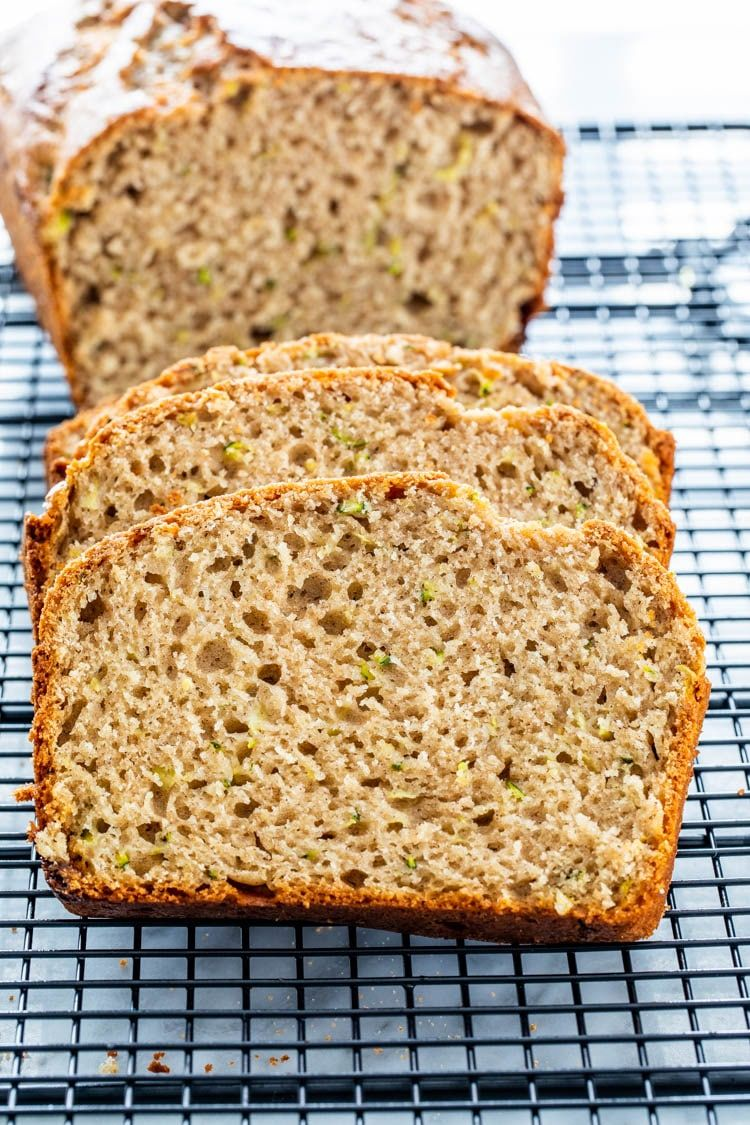 this healthy zucchini bread recipe is fluffy lightly