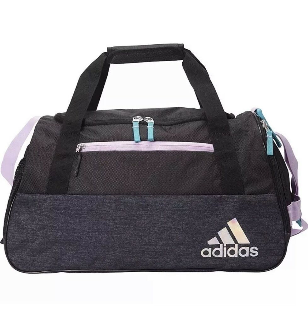 456a7d7899 Adidas Squad III Women's Gym Bag Black Over Night Duffel Carry On Pack New    eBay