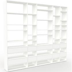 Photo of Weißes Regalsystem – Flexibles Regalsystem: Weiße Schubladen – Hochwertige Materialien – 267 x 233 x