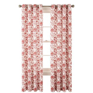 JCPenney Home™ Flora Grommet-Top Cotton Curtain Panel found at ...
