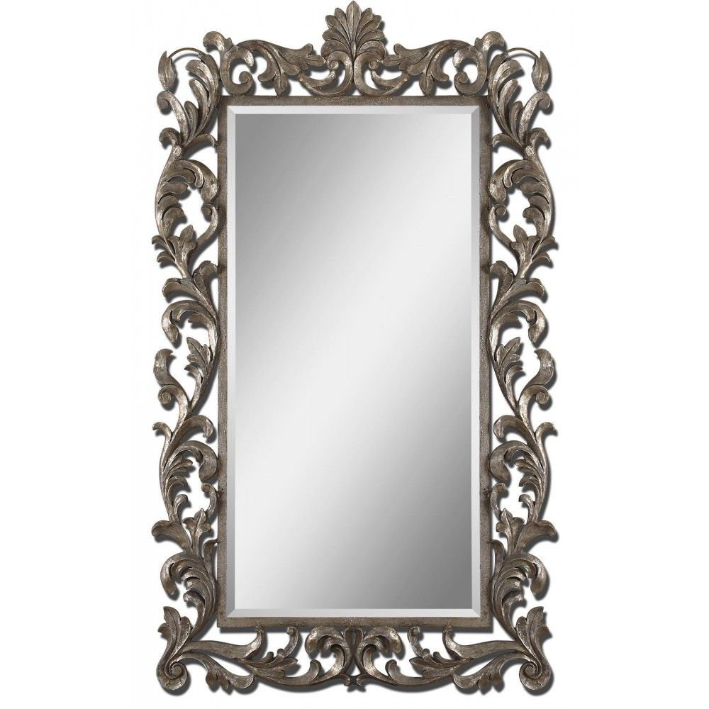 Ornate mirrors molise rectangle mirror ornate mirror foral uttermost molise this ornate oversized mirror frame has a lightly antiqued silver leaf finish mirror features a generous 1 bevel amipublicfo Choice Image