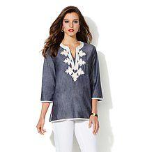 IMAN Global Chic Luxury Resort Embroidered Tunic