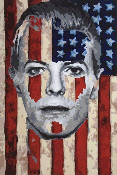 """Young American"" | 36"" x 48"" | Acrylic on Panel | Artist Jeremy Penn"