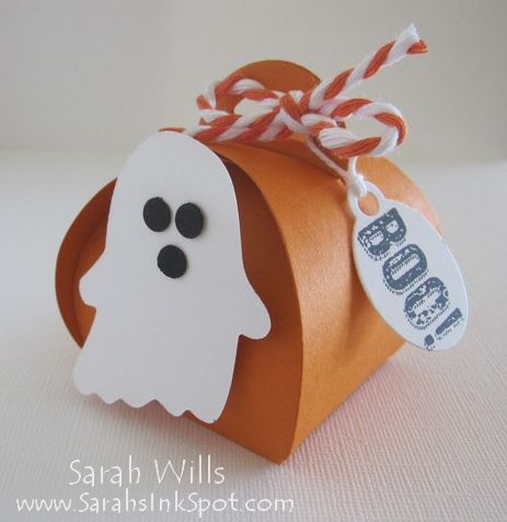 Ghost-Curvy-Box - SU - Halloween treat box - Curvy Keepsakes Box Die