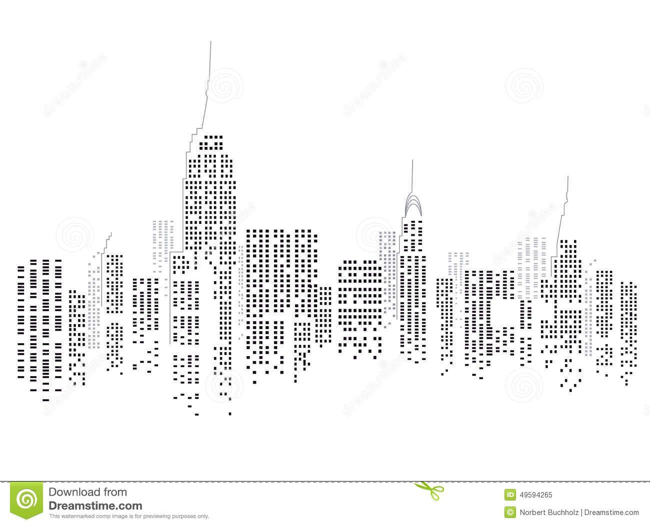 Illustration About Abstract Illustration Of The Skyline Of