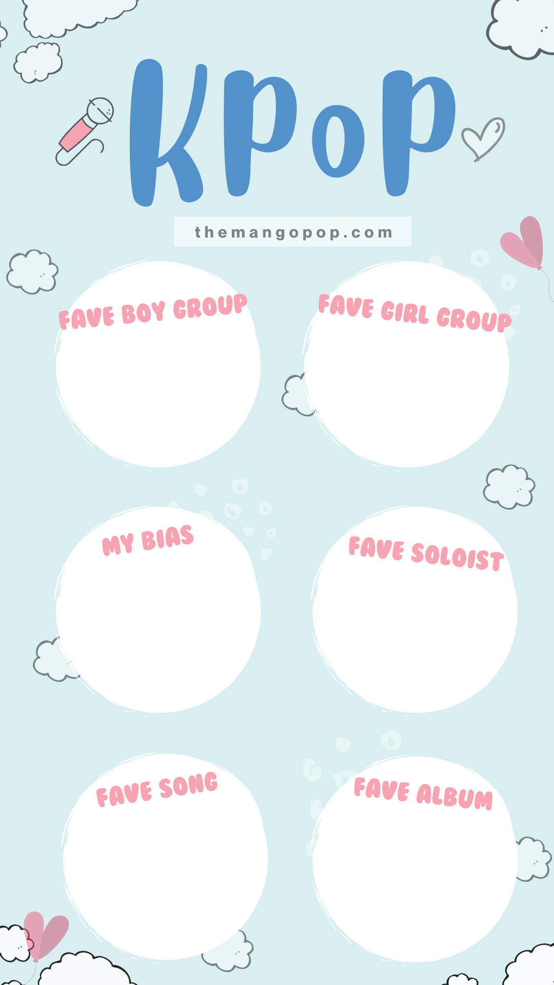 Kpop My Faves Instagram Story Template Gambar