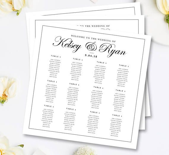 Wedding Seating Chart Template Wedding Seating Plan Seating Diy