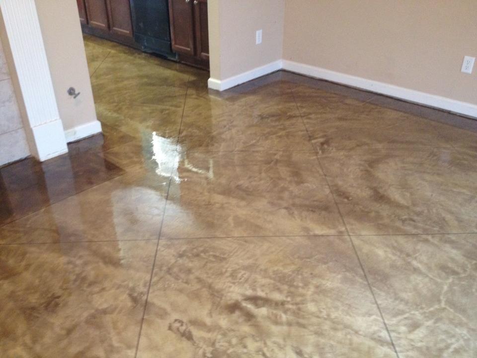 Stained concrete floors photos floor decor memphis acid for Decorative concrete floors