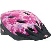 Bell Petal Power Bike Bicycle Helmet Child Girl's Ages 5+ by Bell. $27.95. The Bell Pink Pedal Power Racer Bike Helmet blends both style and safety together for safe riding. The child bike helmet has a true fit technology which provides complete protection to the head. It consists of high-impact reflectors that offer better visibility while riding a bicycle. The visor in the pink bike helmet gives protection from the sun rays and keeps dust away. It has a PinchGuard buckl...