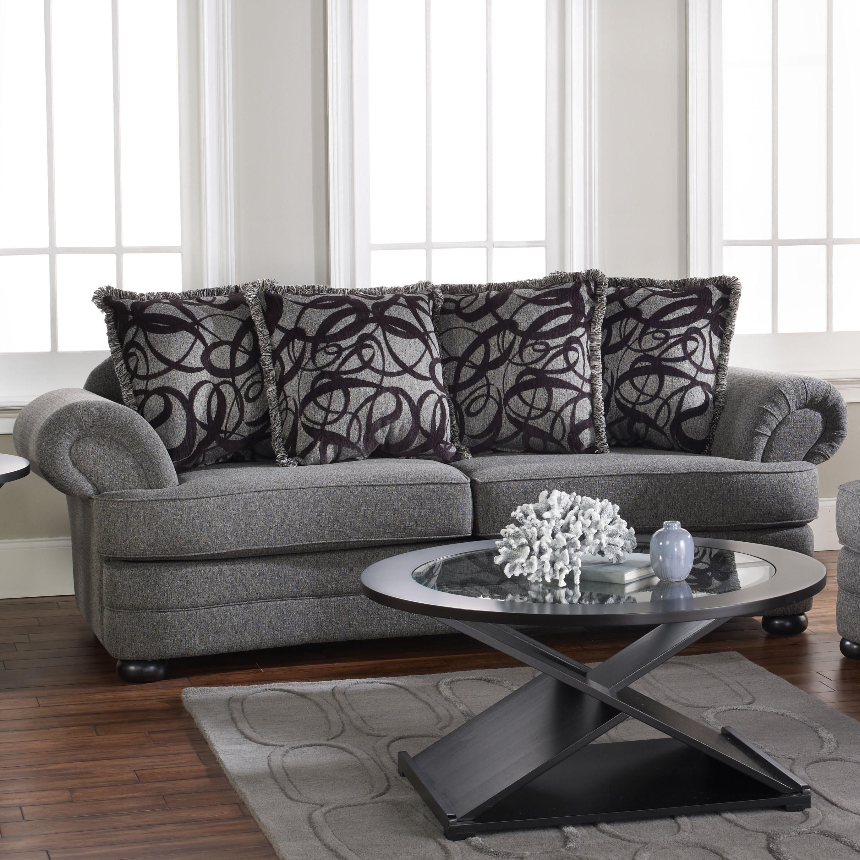 Dayton Grey Sofa with Transitional Furniture Style and