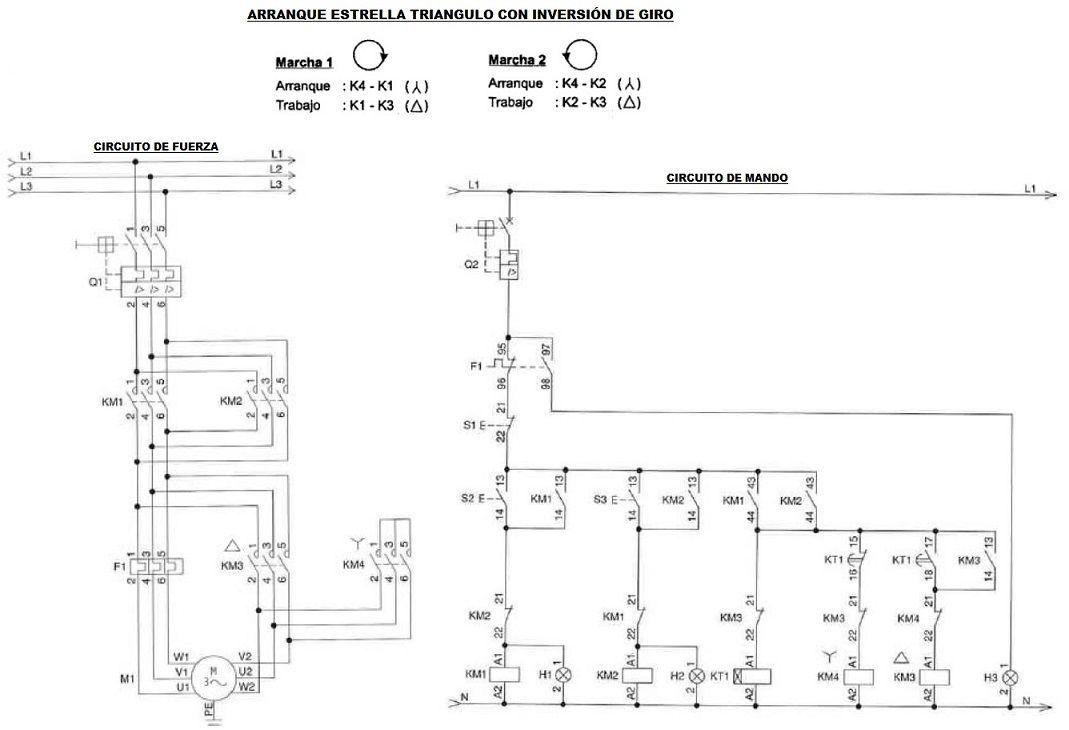 Arranque Estrella Triangulo Varios Circuitos Motores Trifásicos Arranque Motor Trifasico Proyectos Eléctricos
