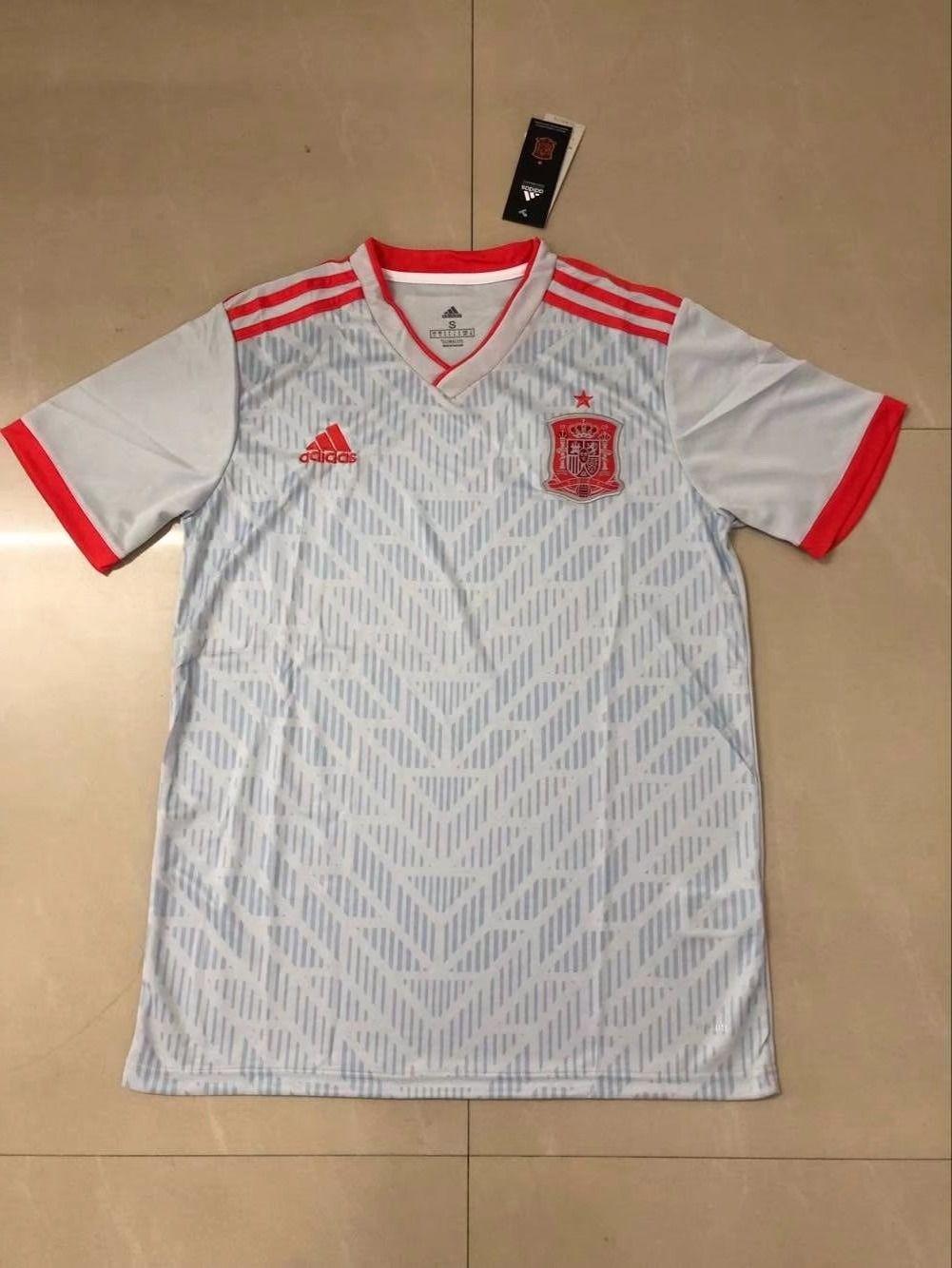 Camiseta de futbol de Espana 2018-2019 de visitante blanco FT18982 ... 7a35ae5239106