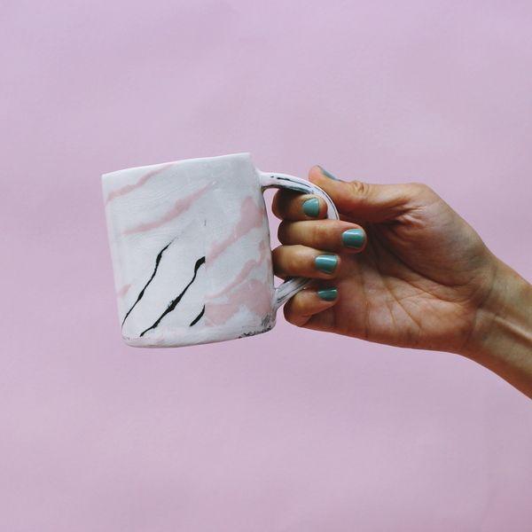 Image of Leah Ball Marbled Mug / pink & black