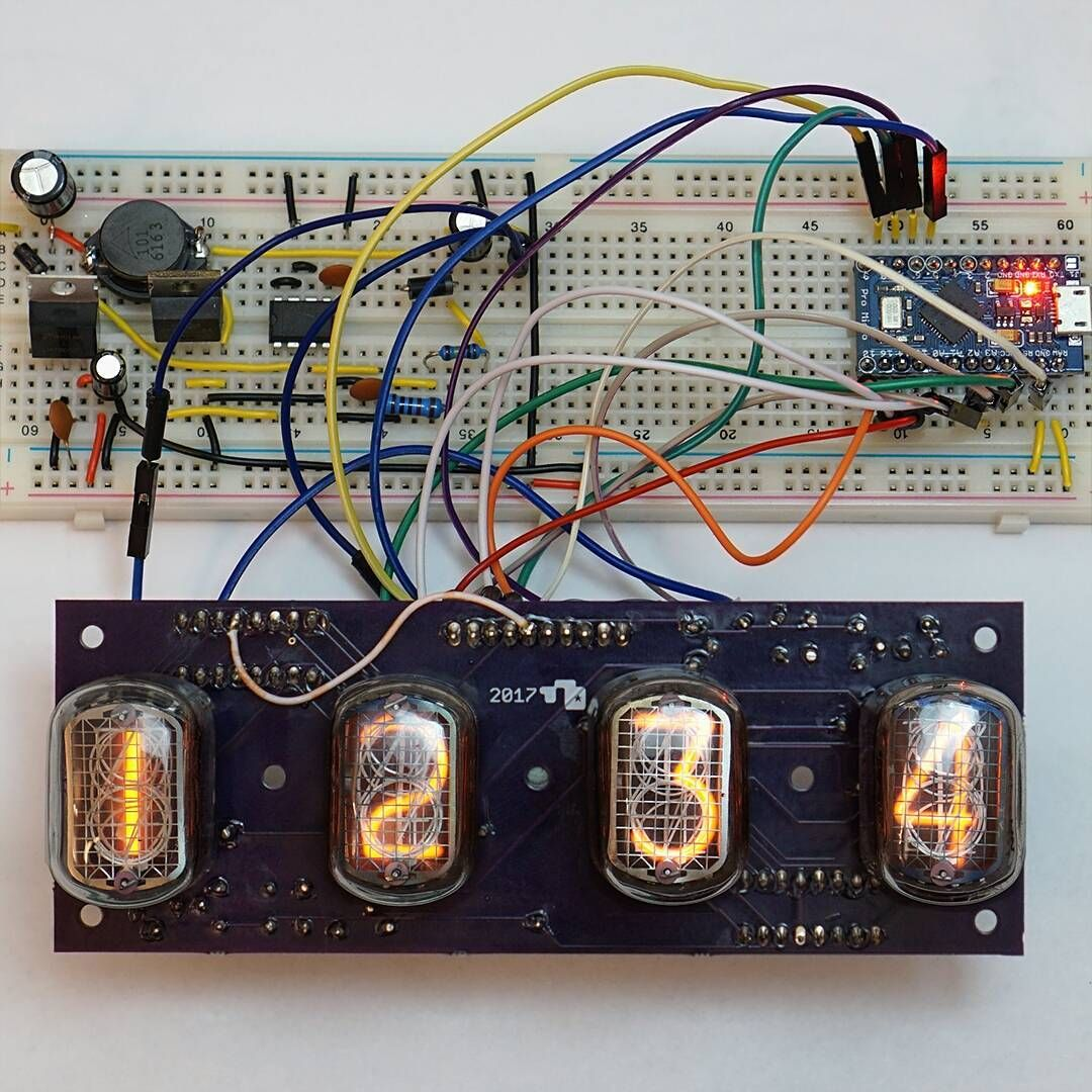 Very Cool Homebrew Nixie Clock In12a Tubes Or Similar Regram Via Tube Further On Schematic Limpfish
