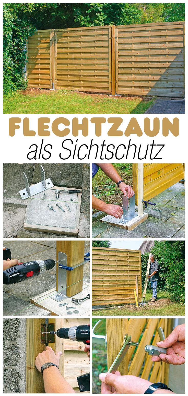 flechtzaun | palette & wood diy | pinterest | fences, gardens and