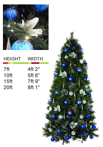 ambius trees blue and silver - Christmas Tree Blue And Silver