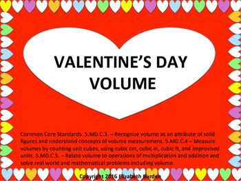 5th Grade Valentine's Day Volume Activities and Worksheets ...