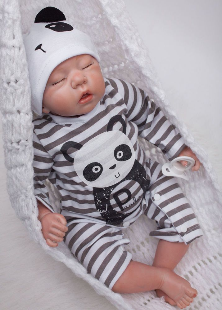 "20/"" Reborn Full Body Silicone Boy Baby Realistic Cute Handmade Doll Toy Kid Gift"