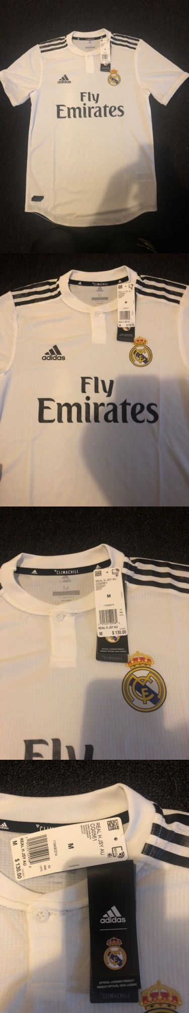 012e2b772 Clothing 33485  Real Madrid Home Soccer Jersey 2018 2019 Champions Patches  Size M - New -  BUY IT NOW ONLY   60 on  eBay  clothing  madrid  soccer   jersey ...