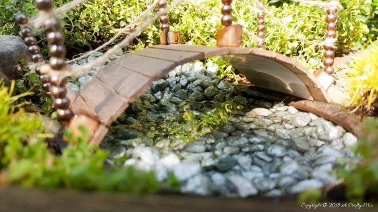 Recycle a Plastic Cup To Make a Fairy Bridge Garden
