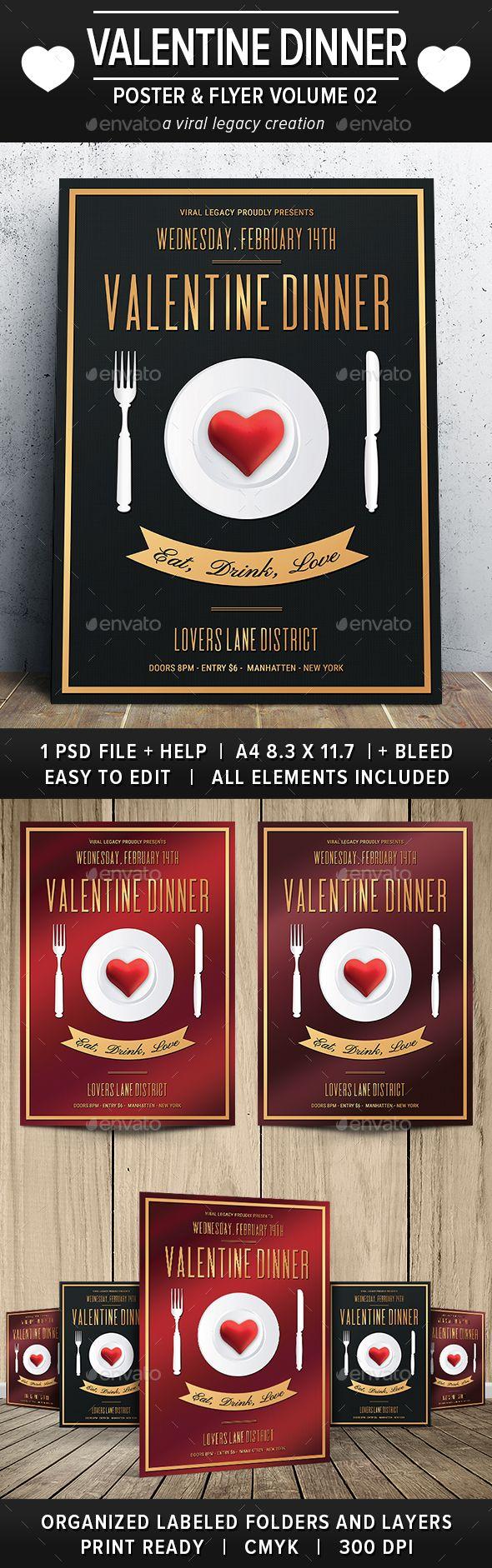 Valentine Dinner Poster  Flyer V